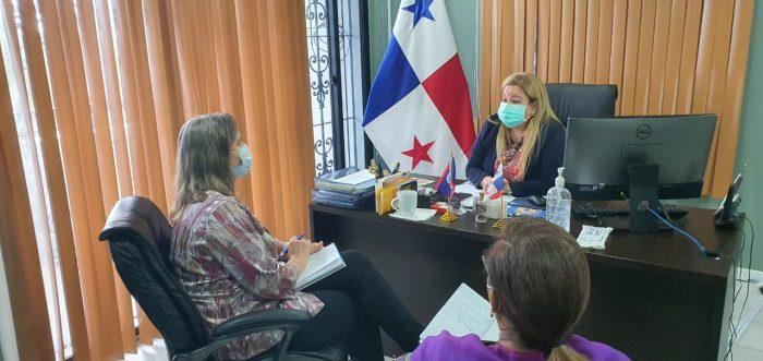 Embajadora de Panamá en Belice y Decana del Cuerpo Diplomático, S.E. Marta Irene Boza, se reunió con la representante de la ONU